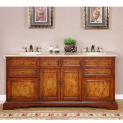Silkroad Exclusive Watsonville 72-inch Double Sink Bathroom Vanity