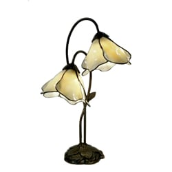 Double Accent Amber 2-light Bronze Table Lamp