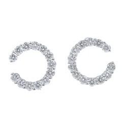 Kabella 18k White Gold 1 3/4ct TDW Diamond Earrings (H-I, VS1-VS2)