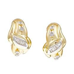 Kabella 14k Two-tone Gold 1/4ct TDW Diamond Earrings (J-K, SI1)