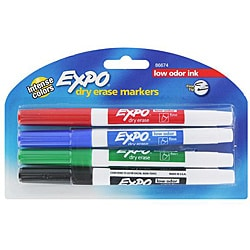Expo Low Fine Dry Erase Markers (Pack of 12)
