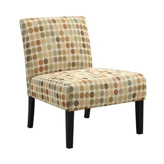 Handy Living Niles Beige Retro Dot Armless Chair