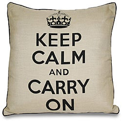 Keep Calm and Carry On Pillow - Thumbnail 0