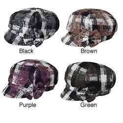 Side Bow Plaid Cap (China)