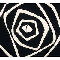 Alliyah Handmade Ivory New Zealand Blend Wool Rug (6' Square)