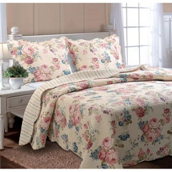 Greenland Home Fashions Clarissa Full/ Queen-size Quilt Set - Thumbnail 0