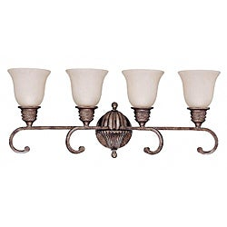 Belvedere 4-light Crackle Bullion Wall Sconce