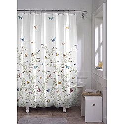 Garden Flight Butterfly PEVA Shower Curtain