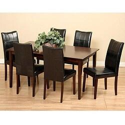 Eveleen Black 7-piece Dining Furniture Set