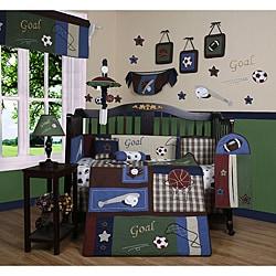 Geenny Classic Sports 13-piece Crib Bedding Set - Thumbnail 0