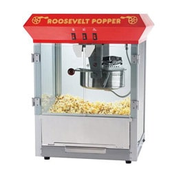 Roosevelt 6010 Red Bar Style 8-oz Antique Popcorn Machine