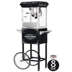 Black 6096 8-oz Foundation Popcorn Machine and Cart