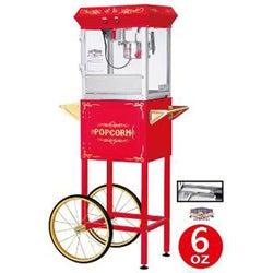 Red 6103 6-oz Foundation Popcorn Machine and Cart