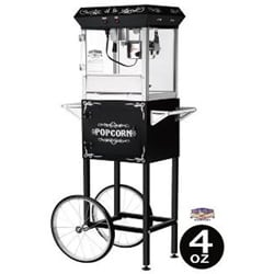 Black 6108  4-oz Foundation Popcorn Machine and Cart