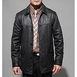 Men's Wool-blend Black Reversible Jacket