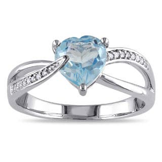 Miadora Sterling Silver Sky Blue Topaz and Diamond Accent Heart Ring|https://ak1.ostkcdn.com/images/products/P13382888a.jpg?impolicy=medium