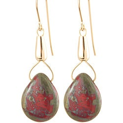 Fourteen-karat Gold Fill 'Recklessly Red' Glass Bead Earrings