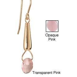 'Pleasently Pink Rose Petal' 14k Gold Fill Earrings