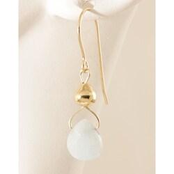 'Drops from Heavens Sky' 14k Gold Fill Amazonite Earrings