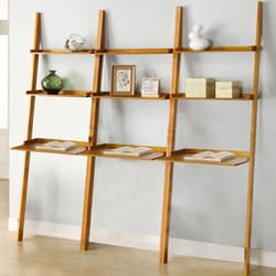 Cherry Leaning Ladder 3 Piece Shelf Free Shipping Today