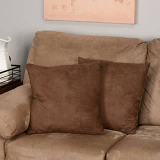 Chocolate Microsuede Feather and Down Filled Throw Pillows (Set of 2)|https://ak1.ostkcdn.com/images/products/P13396309.jpg?impolicy=medium