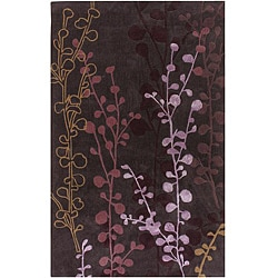 Hand-tufted Contemporary Lavish Plum Abstract Rug (3'6 x 5'6)