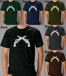 Los Angeles Pop Art Men's 'Crossed Pistols' Shirt