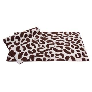 Wild Life Cotton 2-piece Bath Rug Set - includes BONUS step out mat