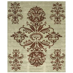 Hand-tufted Tomthy Green Wool Rug (8'9 x 11'9) - Thumbnail 0