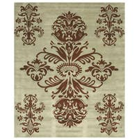 Hand-tufted Tomthy Green Wool Rug (8'9 x 11'9)