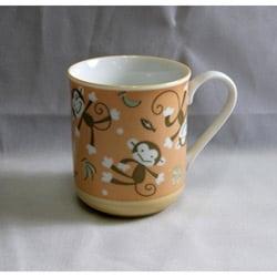 Children's Tan Monkey Ceramic Mugs (Pack of 2)