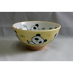 Children's Light Green Ceramic Panda Bowls (Pack of 2)