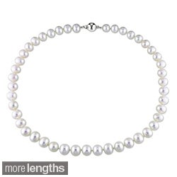 New York Pearls White 8-9mm Freshwater Pearl Necklace (16-24 inches)