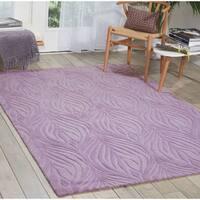 """Nourison Hand-tufted Contours Lavender Rug (5' x 7'6) - 5' x 7'6"""""""