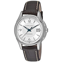 Hamilton Men's 'Jazzmaster Viewmatic' Brown Strap Automatic Watch
