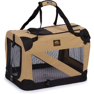Pet Life 360-degree View Khaki Pet Carrier