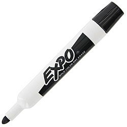 Expo Bullet Tip Black Dry Erase Whiteboard Markers (Pack of 12)