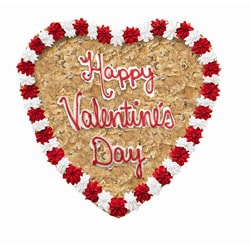 Mrs. Fields 12-inch Heart-shaped 'Happy Valentines Day' Cookie Cake