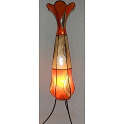 Moroccan Flower Leather Lamp (Morocco)