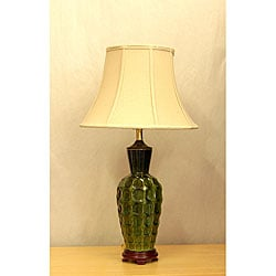 Green Circle Porcelain Glazed Table Lamp - Thumbnail 0
