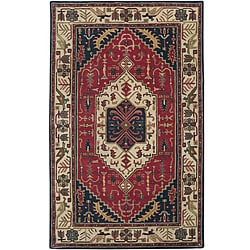 Hand-tufted Grandeur Beige Wool Rug (3'3 x 5'3)