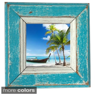 Boat Wood Kamlai Square Picture Frame , Handmade in Thailand