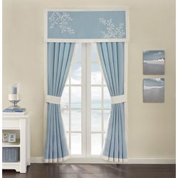 Coastline Blue Cotton Window Valance