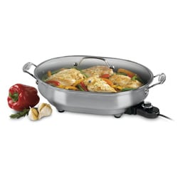 Cuisinart 1500-watt Nonstick Oval Electric Skillet (Refurbished)