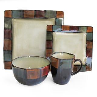 American Atelier Hopscotch Ivory 16-piece Dinnerware Set  sc 1 st  Overstock.com & Earthenware Dinnerware For Less | Overstock.com