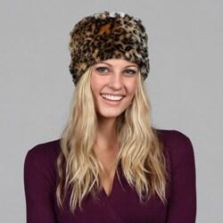 Shop Cejon Faux Leopard Skin Russian Hat - Free Shipping ...