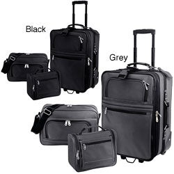 G Pacific Explorer 3-piece Ballistic Nylon Carry-on Luggage Set