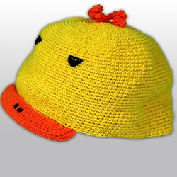 Handmade Toddler's Cotton Crocheted Duck Hat (Indonesia)