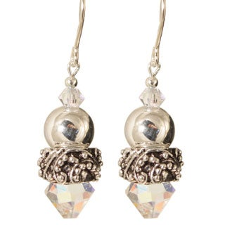Sterling Silver 'Onida' Crystal Earrings
