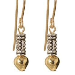 'Ciquala' 14k Gold Fill and Silver Earrings